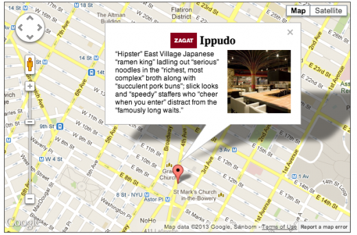 googleplacesapi 520x343 Zagat restaurant reviews added to Place Summaries in the Google Places API