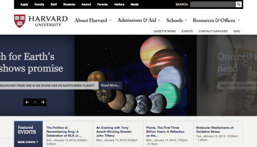 harvard 520x297 29 new inspiring responsive designs on the web