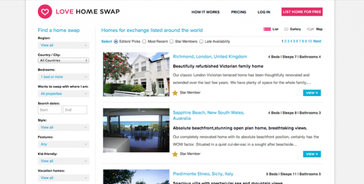 lovehomeswapgrab1 730x369 Love Home Swap acquires 1stHomeExchange, adds 35,000 new properties to its listings