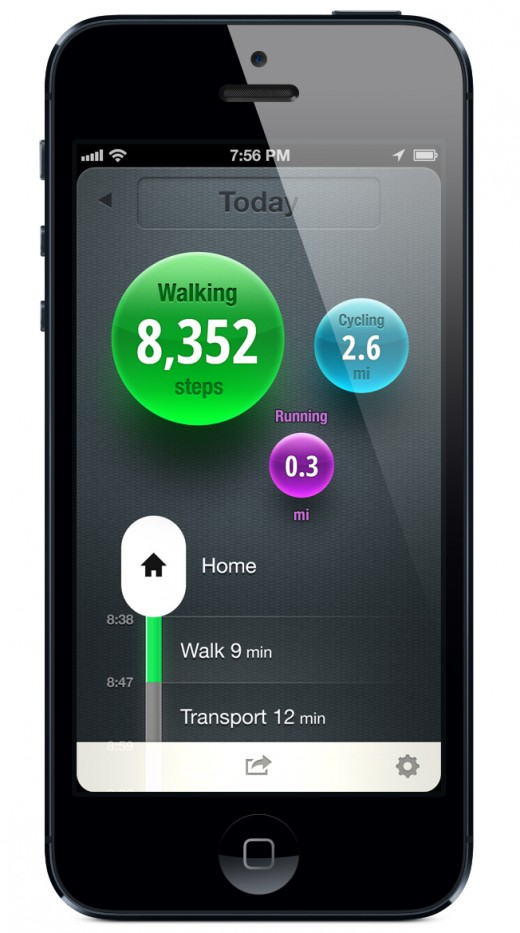 moves 520x933 Moves takes on Fitbit and Nike+ FuelBand with a simple iPhone app for tracking your daily activity