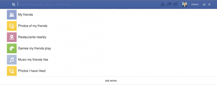searchbox 730x288 Facebook introduces Graph Search, a tool that lets people sift through its social graph