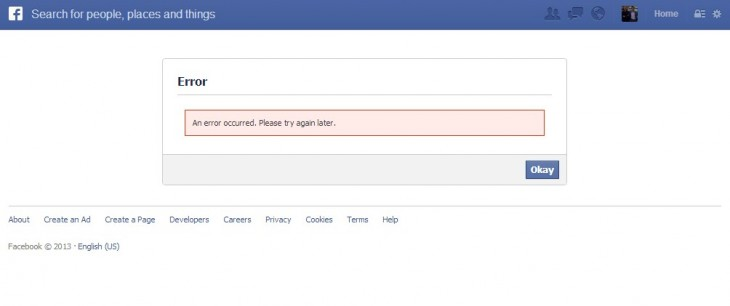 2013 02 07 16h18 25 730x306 Apparent issue with Facebook Connect is dragging people from around the web to a moot error page