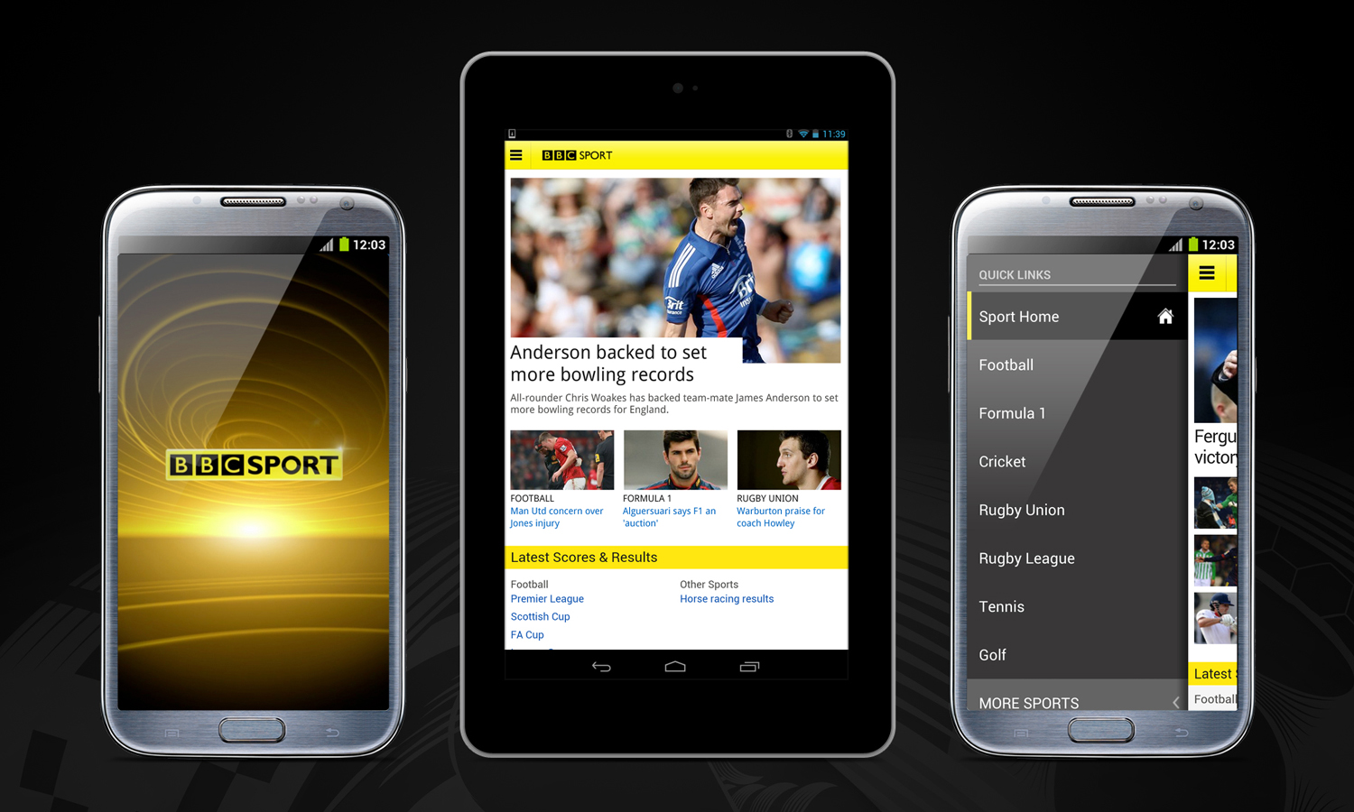 BBC Sport Android BBC Sport launches Android app with stats, news, video and more