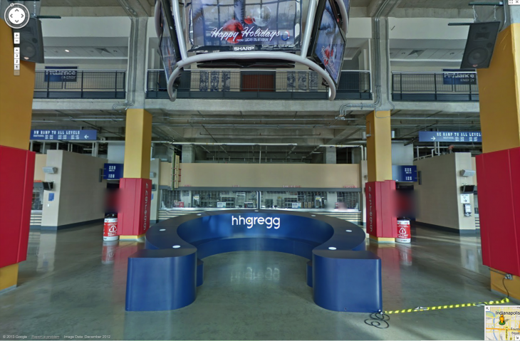 Concourse streetlevel5 730x479 Google Maps hosts its first NFL arena with a 360 degree look at the Indianapolis Colts stadium