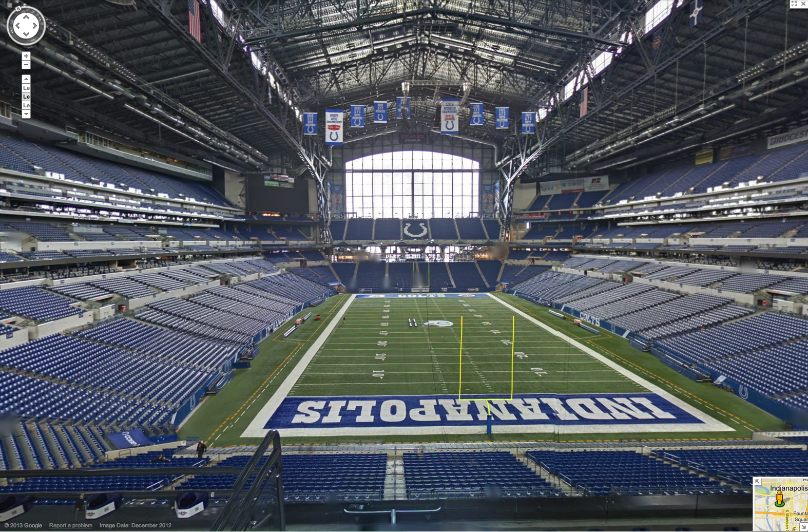 Google Maps Hosts 360-Degree Look at the Indianapolis Colts Stadium