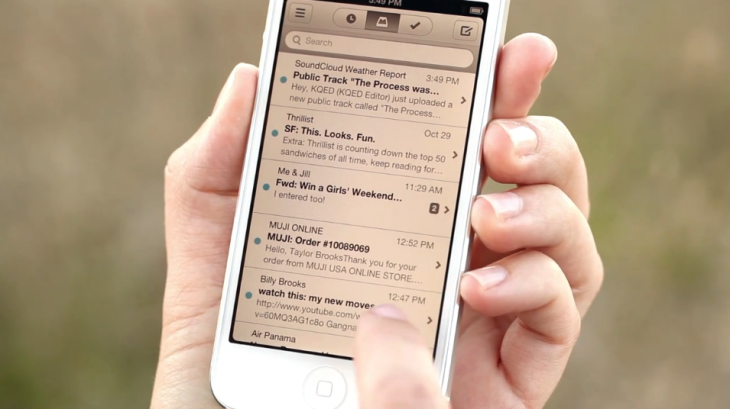 Mailbox for iPhone is the first email client built for our most personal computers