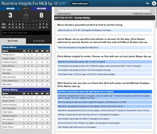 Screen Shot 2013 02 12 at 11.52.16 AM 520x443 Automated Insights uses MLB's big data to generate slick game feeds, replays and commentary