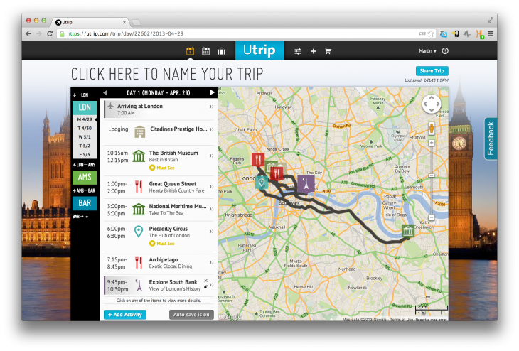 Screen Shot 2013 02 21 at 13.14.58 730x494 Utrip makes it easy to plan that big multi city trip to Europe