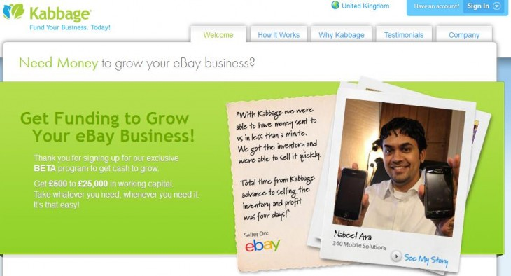 Screenshot 12 730x394 Fresh from a $30m funding round, Kabbage looks beyond the US to launch its loans platform for UK SMEs