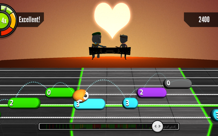ValentineSwing 01 730x456 Guitarbots: Like Guitar Hero for real guitars, in your browser