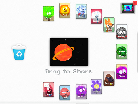 b Drawp: A kid friendly social drawing app for iPad