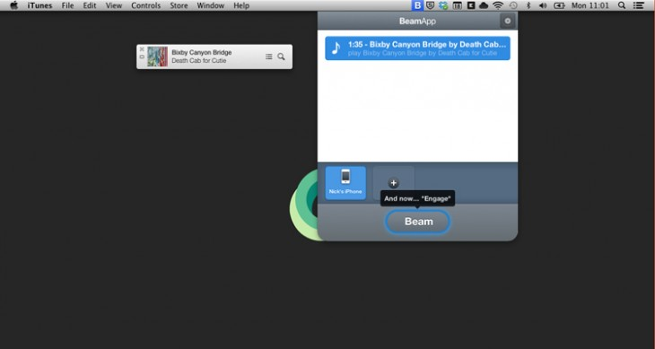 beamscreen1 730x389 BeamApp lets you beam music, maps and more between iPhone and Mac, and pick up where you left off