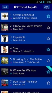 c2 220x391 O2 Tracks brings the UKs official top 40 singles direct to your mobile