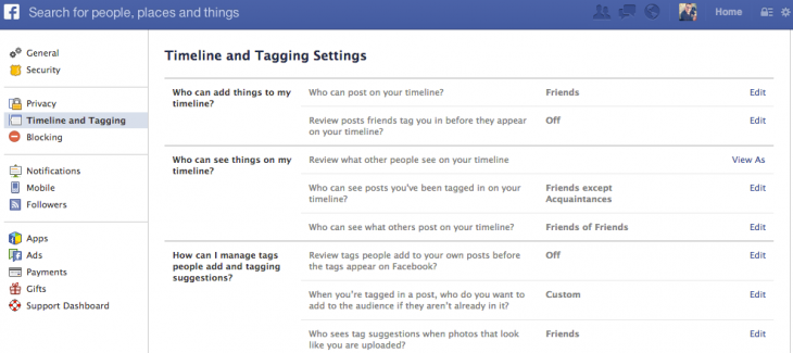fb tagging 730x325 Facebook re enables Tag Suggestions facial recognition feature in the US, on by default for all