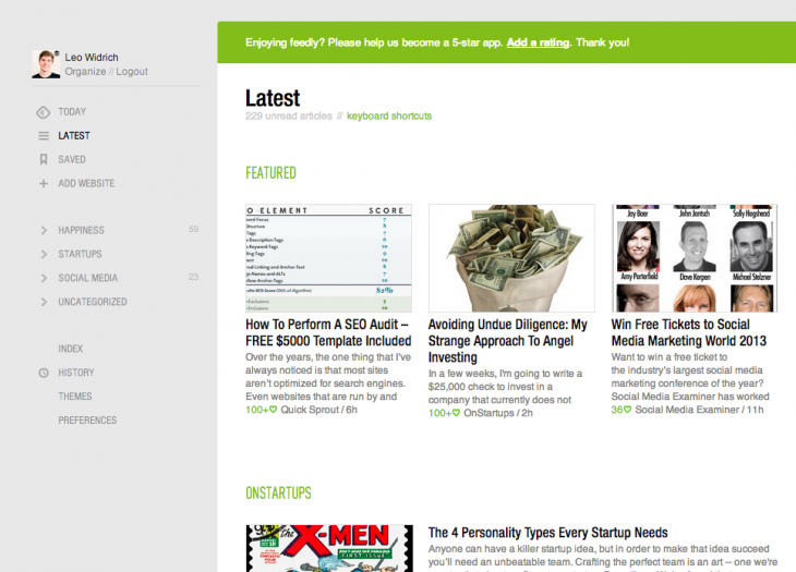 feedly buffer 2 730x525 Now at 500k users, Buffer partners with Feedly to focus on social news reader integrations