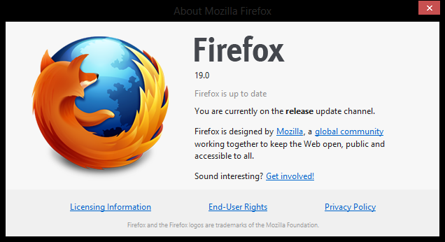 Mozilla Firefox 19 is Out