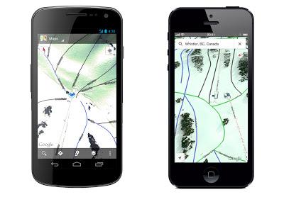 google maps ski