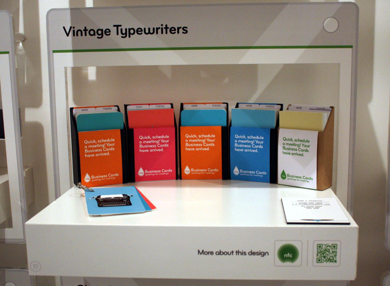Moo recreates its website in real life moo shop vintage typewriters magicingreecefo Gallery