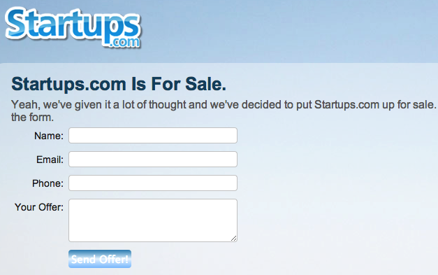 173a2424 6e97 454f bc94 11f682f9f6de Got $2m to spare? You can try to buy KillerStartups and their killer domain Startups.com