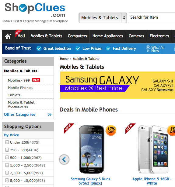 9bf0631d 0aa5 49b9 ae79 7b76aa7b4a89 Indian e commerce marketplace ShopClues gets a $10 million injection