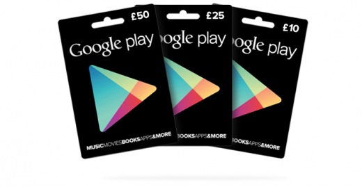 Google Play Gift Cards Launch In The UK At Tesco and Morrisons
