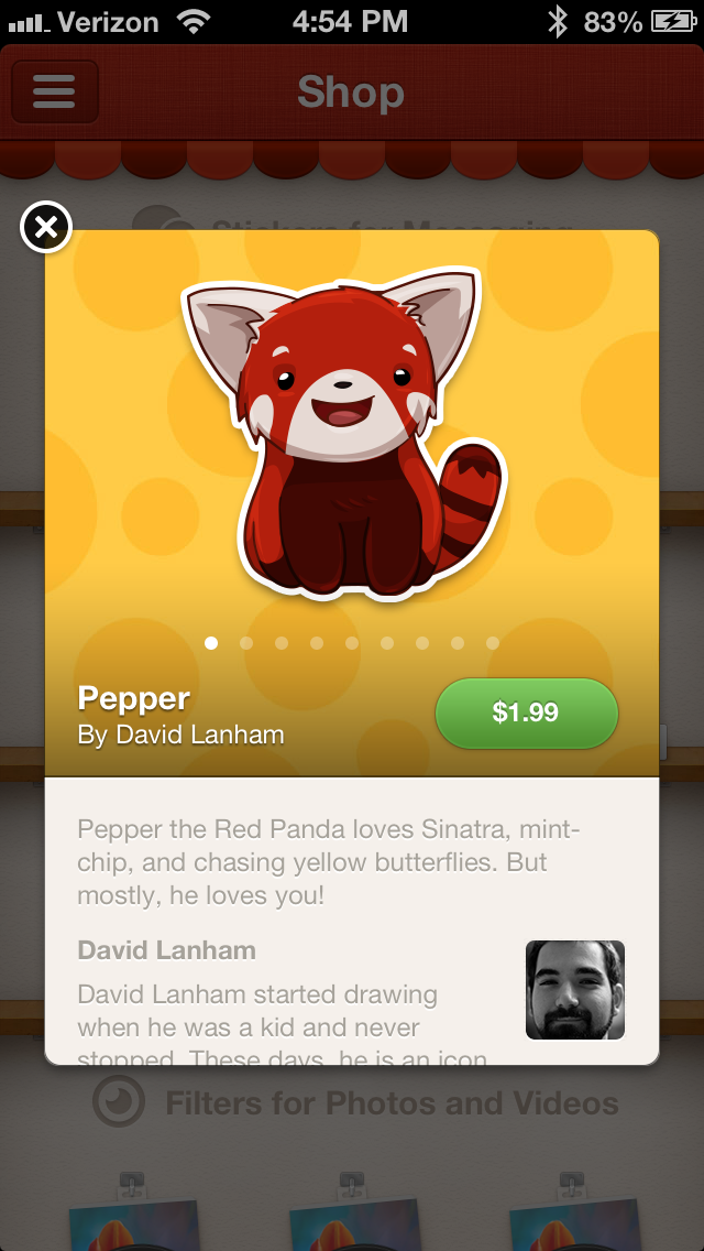 IMG 1902 Path 3.0 adds private messaging and The Shop, with handcrafted stickers and premium photo filters