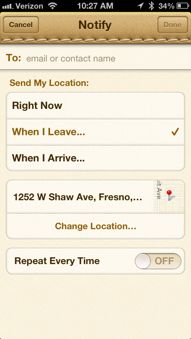 IMG 2194 Apple updates Find My Friends with more accurate location based alert setup process