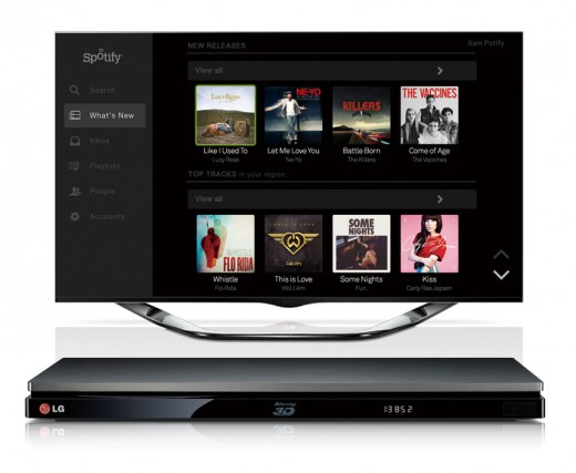 LG To Add Spotify To Its 2013 Smart Media Devices