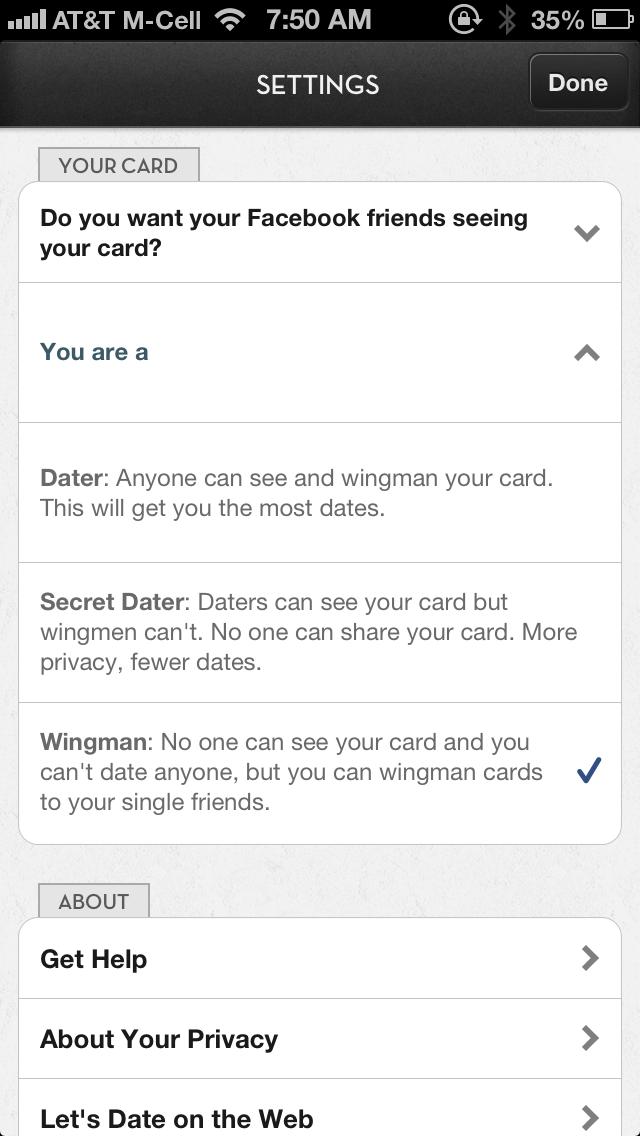 The dating wingman app