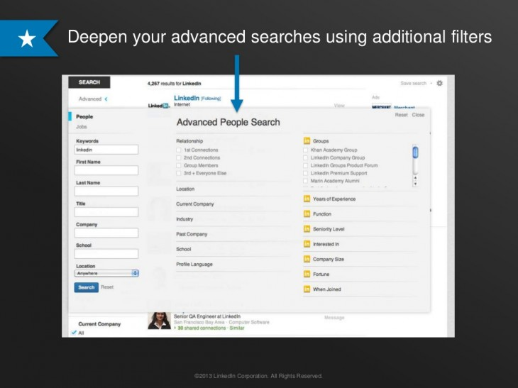 Linkedin2 730x547 LinkedIn updates its search tools with suggested queries, automated alerts, unified results and more