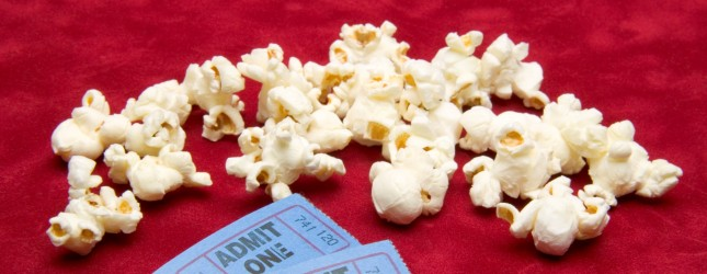 Popcorn and admission tickets