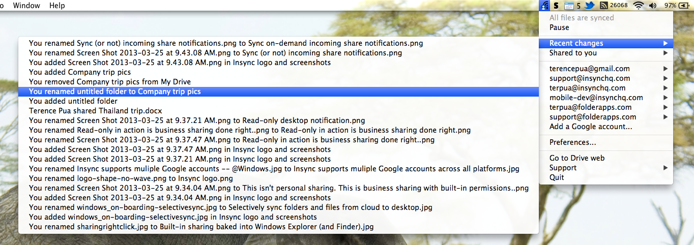 Insync is Feature-Rich Syncing for Google Drive Power Users
