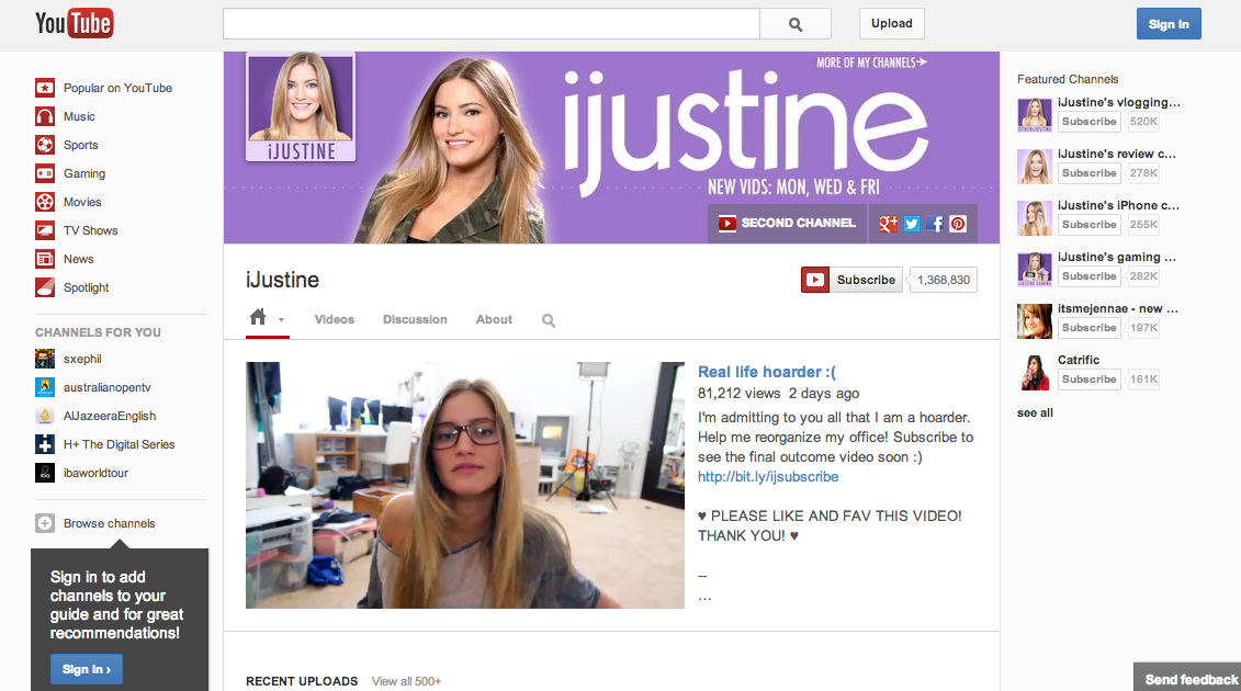 youtube one channel redesign now available for all
