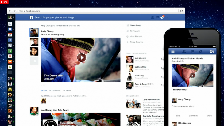 Screen Shot 2013 03 07 at 1.11.10 PM1 730x412 Facebook introduces new News Feed with larger images, choice of feeds and consistent mobile design