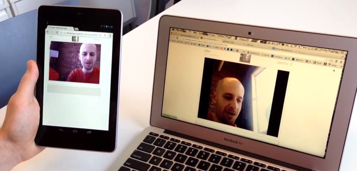 Here's an early look at plugin-free video chatting on a Nexus 7, powered by WebRTC