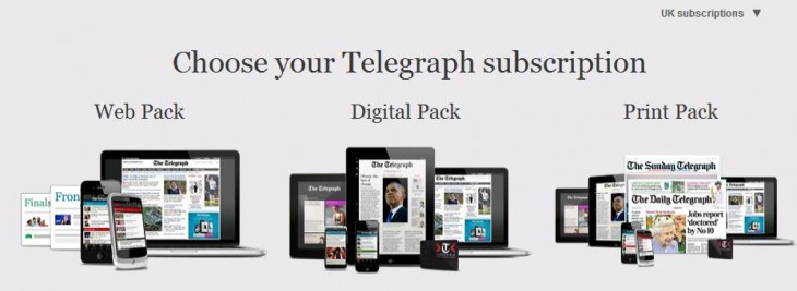 Screenshot 15 730x267 The Telegraph goes behind a soft UK paywall, free online access restricted to 20 articles a month