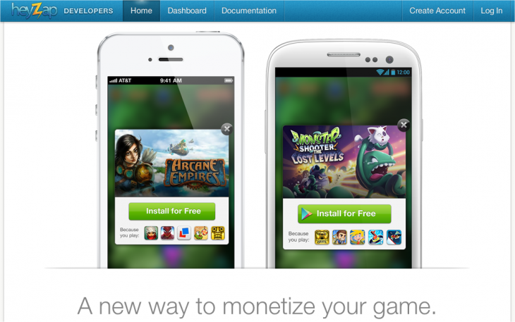 Snap 2013 03 22 at 11.14.34 730x457 Mobile game network Heyzap releases its Ads SDK allowing its 4,200 developers to monetize their apps