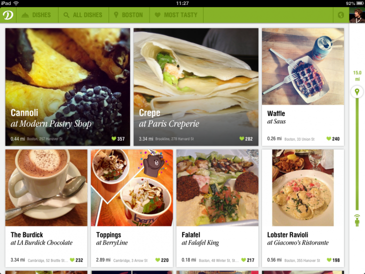 YuPUY6cg1m9lTwy74fr0Ij 3QFLpeES1 fTzz01Jy50 730x547 Restaurant discovery service Dish.fm launches a mouthwatering iPad app for browsing nearby meals