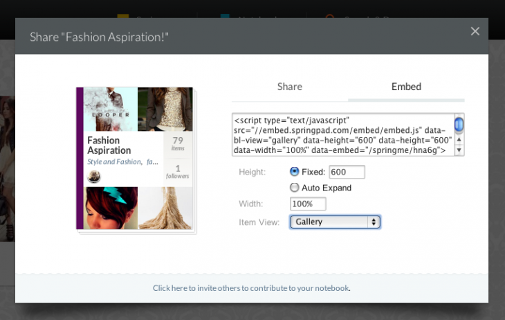 embed-your-springpad-noteboook