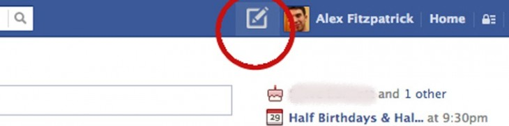 fb button 730x182 Facebook confirms it is testing a new button so you can post directly from the top bar, just like on Twitter