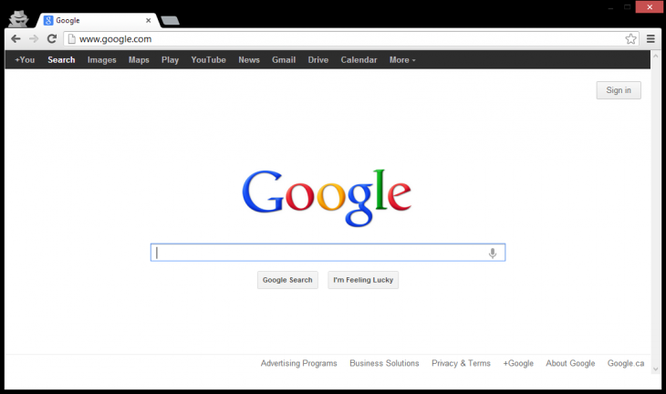 google normalbar 730x432 After testing a new grid menu on its homepage, Google experiments with no navigation bar on all its sites