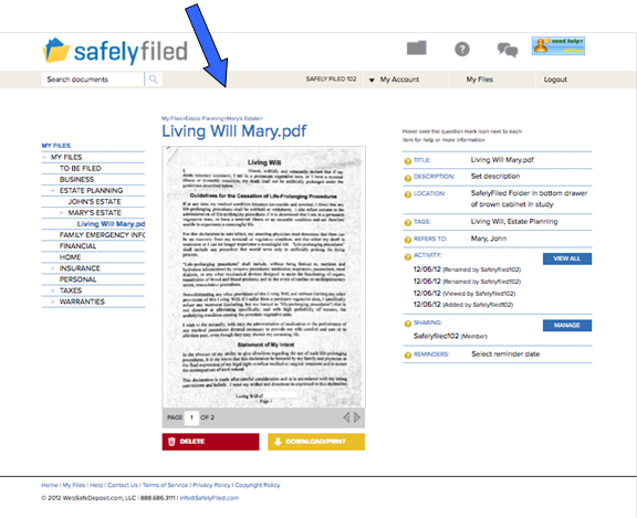image009 SafelyFiled is a cloud storage service for lifes important documents