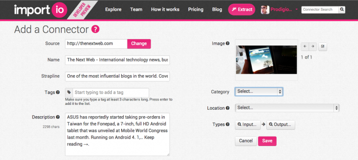 importio 730x328 Import.io closes $906,900 seed round to develop its cloud based platform for extracting big data