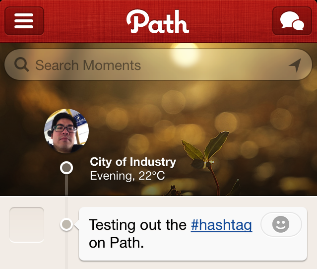 path hashtag Path follows Twitter and Flickr to the hashtag party