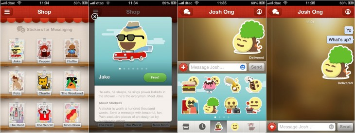 path stickers 730x273 Eastern influence: Paths new messaging and monetization model are straight out of Asia