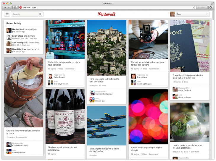 Semiocast: Pinterest now has 70 million users and is steadily gaining momentum outside the US