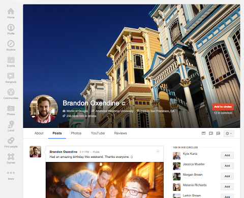 profile 1 Google+ gets updated with new Local reviews tab, larger cover photos and a redesigned About tab [Updated]