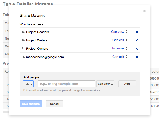share Google updates BigQuery with SQL like queries, grouping of distinct values, and support for Timestamp data