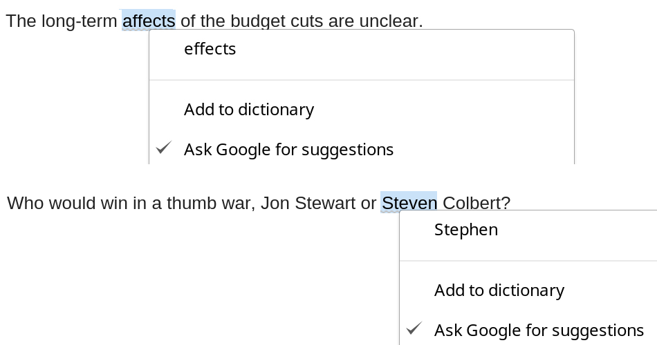 how to change google docs spell check language