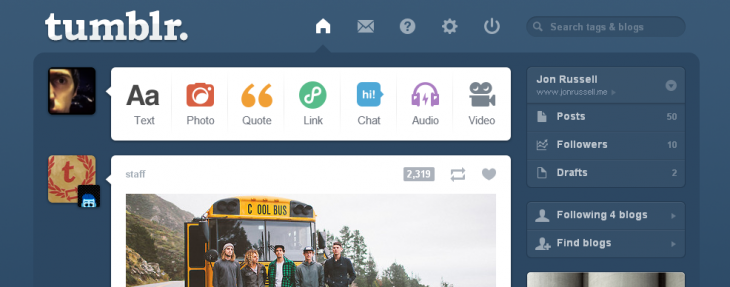 tumblr 730x287 YC backed Padlets quest to democratize Web content creation hits 1.5 million walls